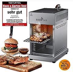 GOURMETmaxx Beef Maker door Top Heat Stainless Steel Gas Grill voor temperaturen tot 800°C*