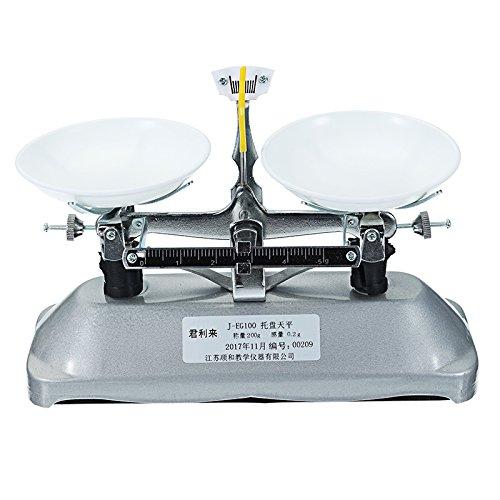 EsportsMJJ Tafelweegschaal, 200G/0,2 G, weegschaal, mechanische weegschaal met gewichten schoolfysica leermiddelen