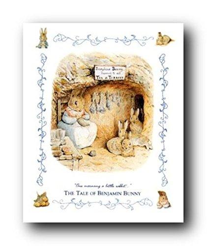 Pôster impresso em arte para decoração de parede The Tale of Peter Rabbit and Benjamin Bunny por Beatrix Potter (40,64 x 50,8 cm)