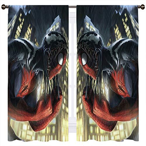Cortinas opacas de doble capa con forro negro, 140 x 100 cm