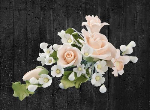 Zuckerblumen-Bouquet Rosen apricot