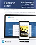 Managing Human Resources Pearson Etext Access Card