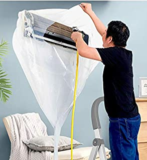 DSOL エアコン洗浄カバー エアコン掃除カバー 360度目視洗浄エアコン 壁掛け用 エアコン掃除用カバー 汚水の飛び散り防止 カビ ホコリ ダニ を 洗い落とす際に! 外周250cm 幅90cmまで対応 プロも使用する