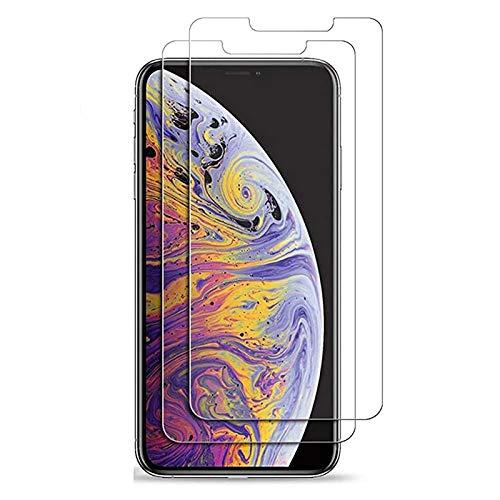 Panzerfolie, 2 Stück - Kompatibel mit Iphone 11 Pro Max (6,5 Zoll) - Premium Display Schutz-Glas mit 9H-Härtegrad - Durchsichtige kristallklare Glasfolie - Reaktionsschnelle Panzer Display-Schutzfolie