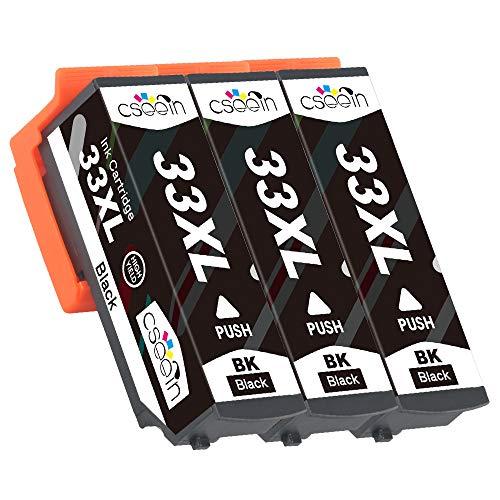 Cseein 3x Sostituzione 33XL Nero Cartucce d'inchiostro Alta Capacità Compatibili Expression Premium cartucce XP-530 XP-540 XP-630 XP-635 XP-640 XP-645 XP-830 XP-900
