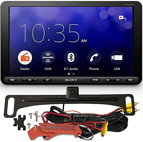 "Sony XAV-AX8000 Floating LCD Car Multimedia Receiver Safe Driver's Bundle with HD Backup Camera. 1DIN 8.95"" Chassis with Bluetooth, Apple Car Play, Android Auto, Sirius XM Ready."