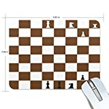 Personalized Mouse Pad Large Rectangle Gaming Mouse Pad Style Rubber Mousepad with Checkerboard in 9.84'x 7.48'