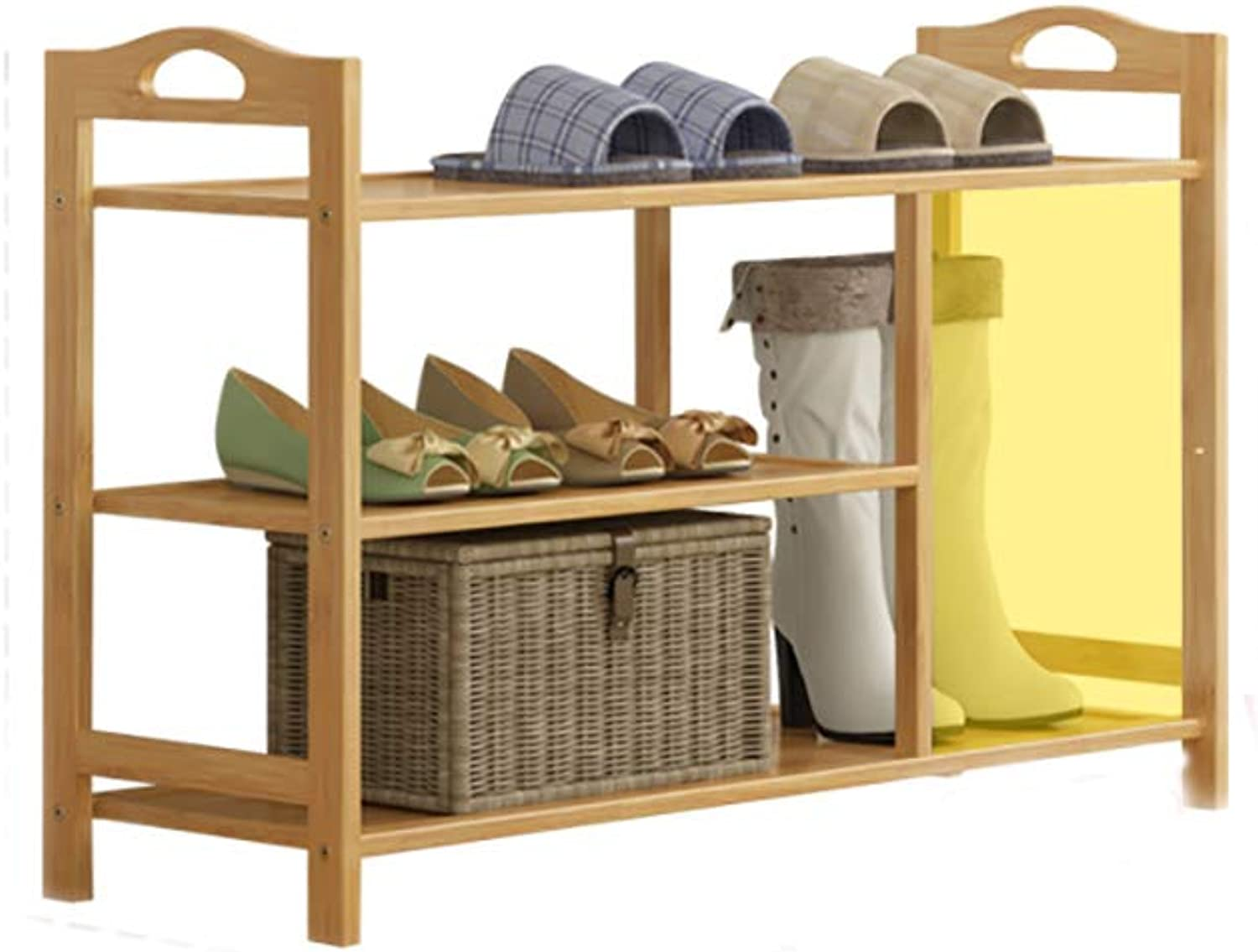 shoes Bench Organizing Rack Natural Bamboo shoes Rack 3 Layer Small shoes Shelf Simple Home shoes Storage Rack