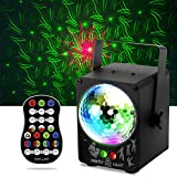 Disco Lights RGB LED Stage Beam Lights Sound Activated Strobe Flash Effects DJ Party Lights with Remote Control for Karaoke, Wedding, Parties