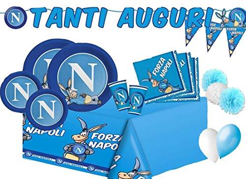 irp Big Party - kitn 66 SSC Napoli addobbi Decorazioni Squadra Calcio Bianco Azzurro