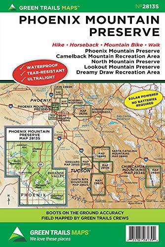 Phoenix Mountain Preserve, AZ No. 2813S (Green Trails Maps)