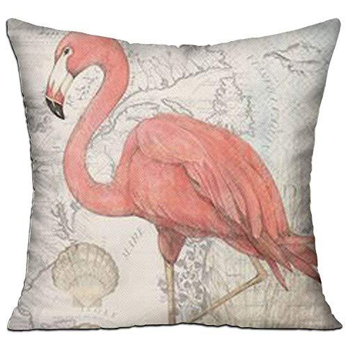 N\A Funda de cojín Funda de Almohada Flamingo Rosa Funda de Almohada Decorativa Personalizada Sofá Asiento Funda de Almohada para Coche Soft Inch