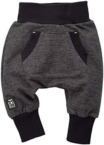 Pinokio - Happy Day - Baby Hose 100% Baumwolle-schwarz - Jogginghose, Haremshose Pumphose Schlupfhose- elastischer Bund, unisex (104)