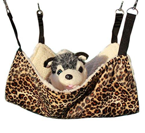 Diyafas Katzen Hängematte Haustier Kätzchen Decke Käfig Hängendes Bett für Welpe Ratte Frettchen Kaninchen