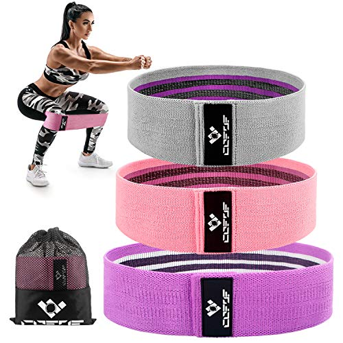 Resistance Bands Booty Bands for Legs and Butt, Non-Slip/Fabric/Elastic/Thick Exercise Bands Hip Bands Workout Bands Resistance Loop Bands for Women 3 Pack (2020 Upgrade)