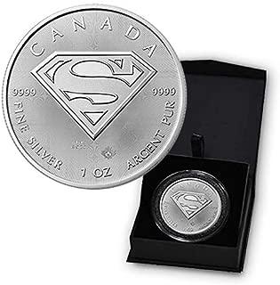 2016 CA Superman S-Shield Man of Steel 1 Troy Oz .9999 Silver Bullion in Capsule and Presentation Box $5 BU