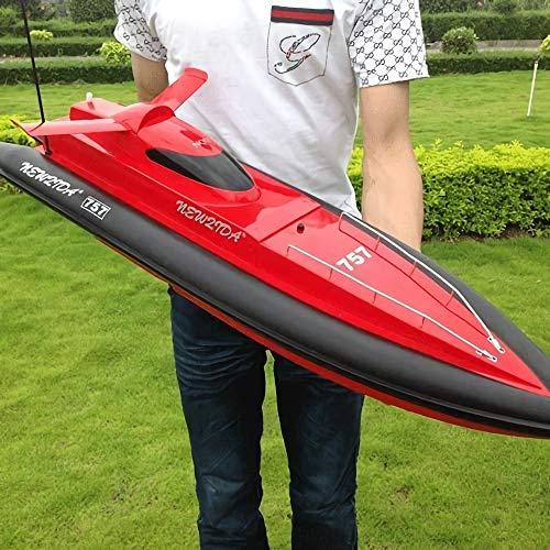 GRTVF Barco de velocidad de control remoto súper grande, barco de velocidad especial para la competencia RC, racing RC Boat Doble Propeller Toy Boat con timón de cola, diseño avanzado a prueba de agua
