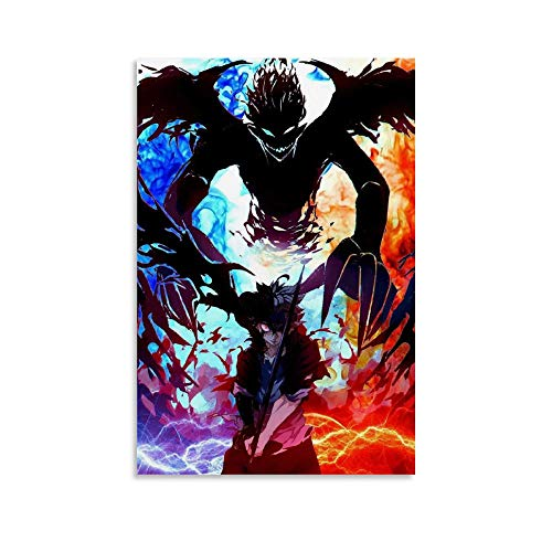 SSWQ Anime-Poster Black Clover Canvas Art Poster Picture Modern Office Family Bedroom Decorative Posters Gift Wall Decor Painting Posters