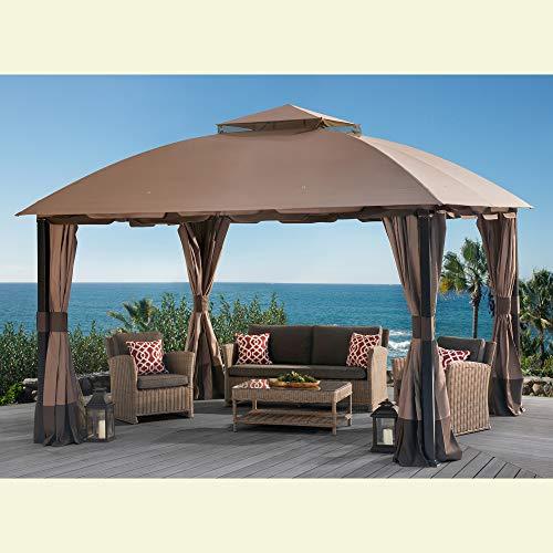 Sunjoy 110109123 Original Replacement Canopy for South Hampton Gazebo (11x13 FT) L-GZ659PST Sold at BigLots, Brown