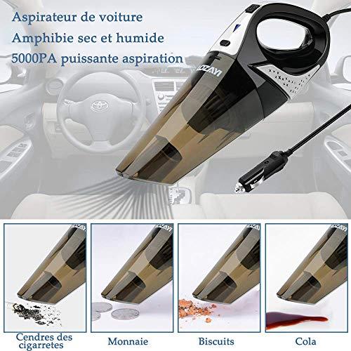 LOZAYI Aspirateur Voiture, Aspirateur Portable à Main 12V Aspirateur de Voiture Puissant 4000Pa...