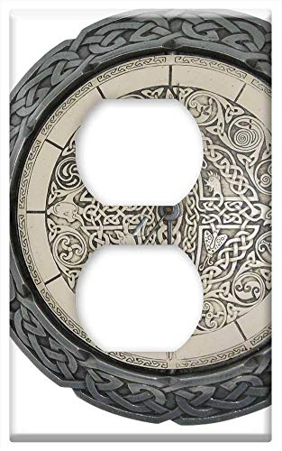 Switch Plate Outlet Cover - Clock Celtic Knot Time Celtic Knot Circle Old