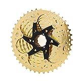 Bicicleta de montaña 10 velocidades Velocidade Cassette de Bicicleta MTB Freewheel Gold Sprocket 10S 36T 42T FOR S H I M A N O Fit for SRAM (Color : 10 Speed 11 42T Gold)