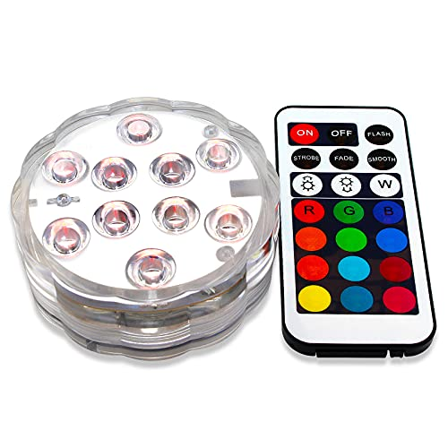 Pond Fountain Lights, Waterproof LED Lights, Battery Powered...