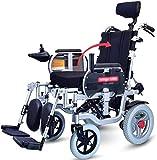 BXZ Silla de ruedas eléctrica Silla de ruedas eléctrica plegable con reposacabezas, Silla de ruedas portátil liviana, Función doble Incapacidad para ancianos Unidad de scooter automática inteligente