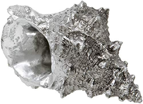 Maturi Silver Conch Sea Shell Ornament - 6-Inch / 15cm