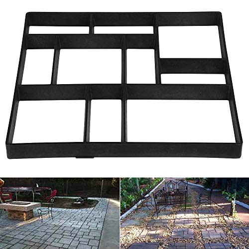 Topeakmart DIY Paving Stone Concrete Mold Paving Stepping Stone Brick Molds for Concrete Path Mold Pattern Patio Maker Paver Mold Tools for Walkways/Patio w/ 12 Grids, 23.8 x 19.9 x 1.7''