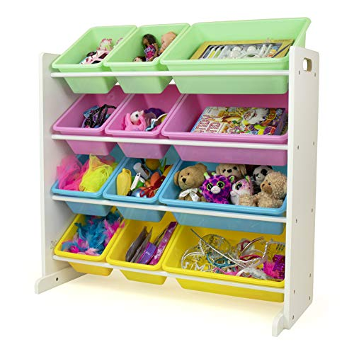 Humble Crew, White/Pastel Kids' Toy Storage Organizer