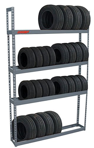 Adjustable 60in Tire Storage Rack - 4 Shelf 96x60x12in 1000 lb Capacity by Champ