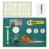 KingTool 78 Pcs Ultimate Sewing Tool Kit, A3 Cutting Mat, 45mm Rotary Cutter, Patchwork Ruler, 5 in 1 Sliding Gaguge, Tailor Scissor and Other Kits for Fabric Sewing Projects