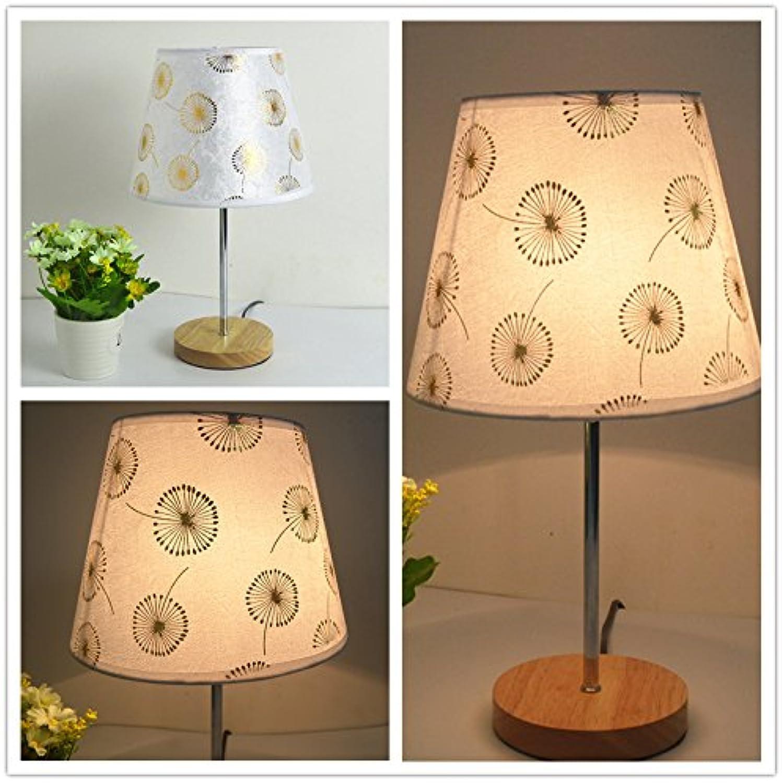 Einfach modern wooden stoff holz lampenlicht warm kinder schlafzimmer mit lampe,löwenzahn,button wechseln B072MGWKCT  | Leicht zu reinigende Oberfläche