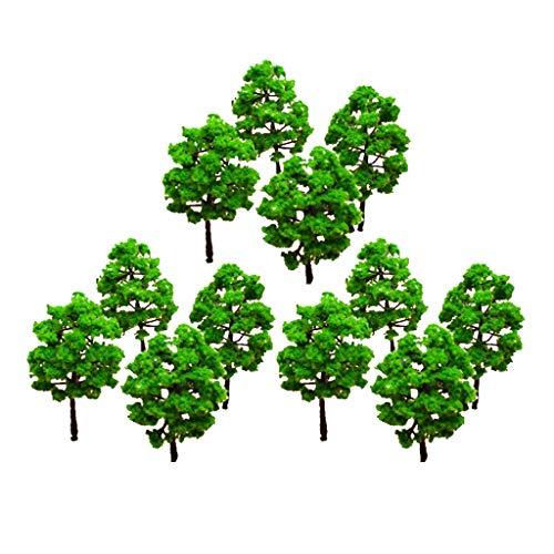Generic Model Tree Train Set Plastic Trunks Scenery Landscape Ho N - 10PCS by