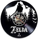 Reloj de Pared de Disco de Vinilo Juego Zelda CD LP Reloj Diseño Moderno Tema del Juego D Reloj Vintage CD Relojes Decoración para el hogar Regalos para niños 12 Pulgadas