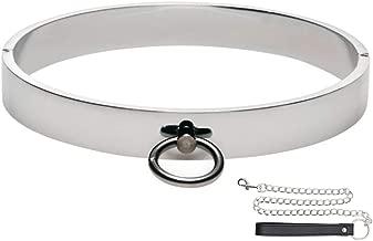 Adavidsource Stainless Steel Necklace Decoration Unisex Necklace Metal Choker Short Collar Fashion Choker