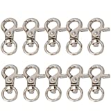 willikiva 20PCS Metal Swivel Clasps Lanyard Snap Hook Lobster Claw Clasp Jewelry Findings BagHardwareSupplies Chain Buckles Bag Belting Pets Dog Chain Connector(Silver)