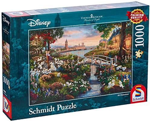 Schmidt Spiele Thomas Kinkade Disney 101 Dalmata Puzzle 1000 pezzi, Multicolore, 59489