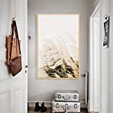 N/A Lienzo Pintura Decoración Póster Abstracto de Seta de cañas de Arte Moderno, Lienzo nórdico, impresión artística de Pared, Pintura de la Naturaleza, Imagen Minimalista, decoración escandinava