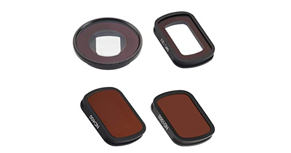 Runshuangyu Set of 4 Neutral Density Lens Filter for Photography ND1000//ND400//CPL//MC-UV Lens Filter Fit for DJI Osmo Pocket Camera