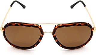 LUKEEXIN HD Polarized Driving Fishing Casual Sunglasses, Pliot Classic Sunshade (Color : Brown)
