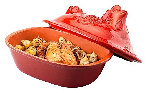 Piral Gourmet Cuocipollo, Ceramica, Rosso, 33x22x23 cm