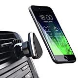 NOVOLAND Magnetic Phone Car Mount, Cell Phone Mount Holder for Car Air Vent Strong Magnet Easy Bite-Lock 360 Rotation for Apple iPhone X 8 7 6 6s Plus Samsung Galaxy S8 S7 S6 Edge Note 8 7 6 (Black)
