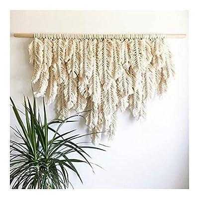 Ma: Hilo natural (arroz blanco) + palo redondo Tapiz de estilo tradicional, adecuado para decoración del hogar, juegos de boda, etc. oceso: tejido a mano adopta el hilo de calidad de la compra de campo, el tapiz de proceso de tejido de cuerda hecho a...