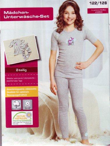 Chicca Chicca warmes Mädchen Winter - Unterwäsche Set gr 122/128 2- teilig anschmiegsame elastische Qualität für optimale Bewegungsfreiheit