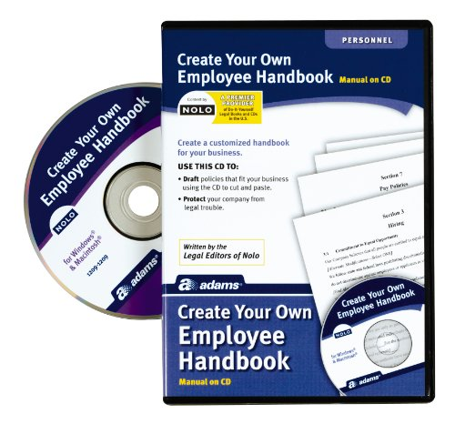 Adams Create Your Own Employee Handbook, Forms on CD (SS4324) , White