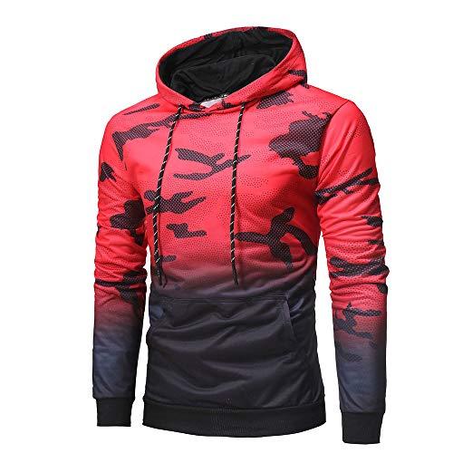 Kobay Homme Casual Sweats à Capuche Pull à Manches Longues Sweat-Shirts Hiver Fantaisie Hoodie avec Pochette