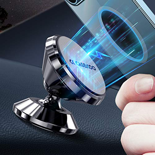 CASEKOO【2021 New Version】 Magnetic Car Phone Holder, Universal 360° Rotation Strong Magnet Car Phone Holder Mount for Dashboard Compatible with iPhone, Samsung, LG, GPS, Google and All Cell Phone