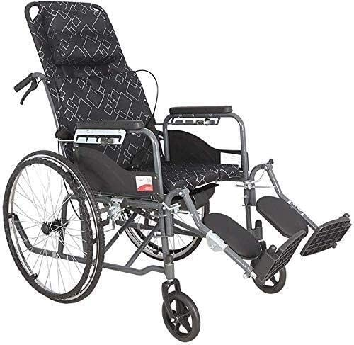 JKCKHA Folding Transport Max 57% OFF Translated Wheelchair with Potty Design All Lying